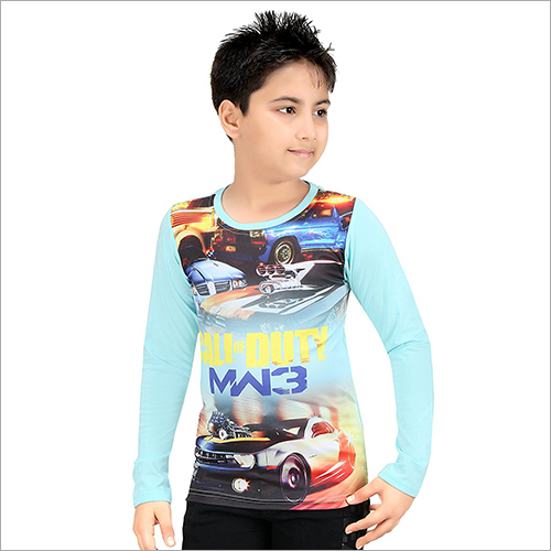 Sky Blue Full Sleeve T-Shirt