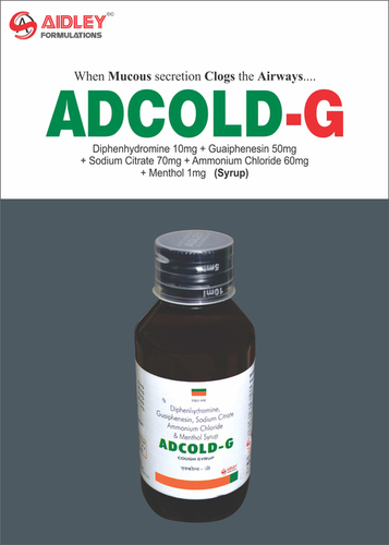Diphenhydramine Hydrochloride 10mg + Guaiphenesin 50mg + Sodium Citrate 70mg + Ammonium Chloride 60mg + Menthol 1mg/5ml