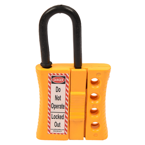 Safety hasp lockout device