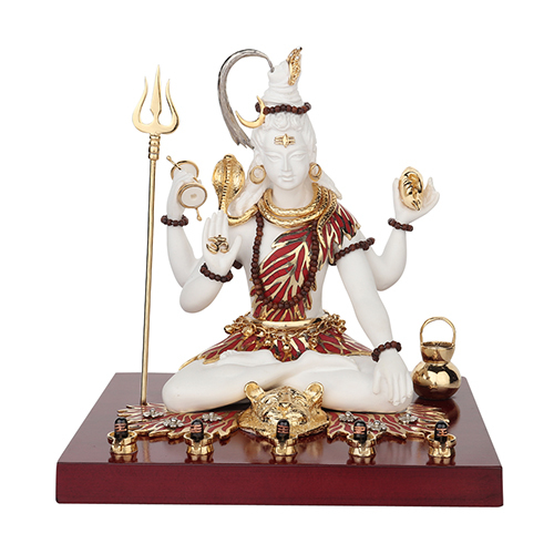 Crafted Resin Shiva Idols With Topaz