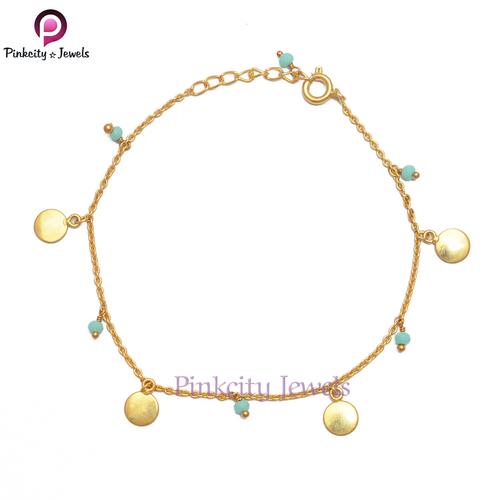 Aqua Chalcedony 925 Silver Bracelets