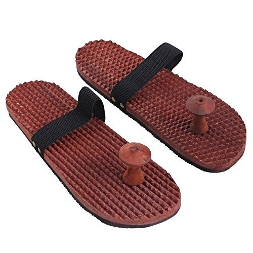 Wooden Relaxing Acupressure Slippers for Good Health in Sheesham Wood
