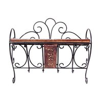 13 X 5 X 24 Inch Home Decor 3 Shelf Book/Kitchen Rack with Cloth/Cup Hanger Size