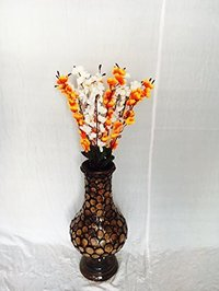 Brown Wooden Flower Vase