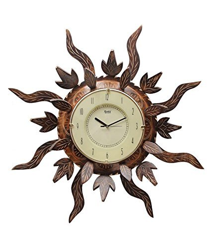Wooden Antique Sun Shape Beautiful Wall Clock