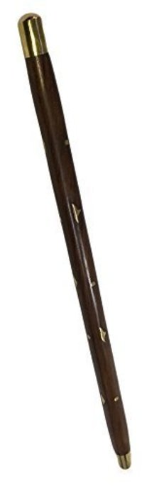 Beautiful Hand Carved With Brass Design Walking Stick