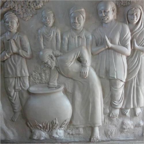 FRP Sai Baba Wall Mural