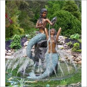 FRP Mermaid Fountain