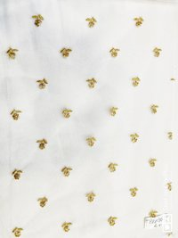 Cotton dyeable fabric with shiffli