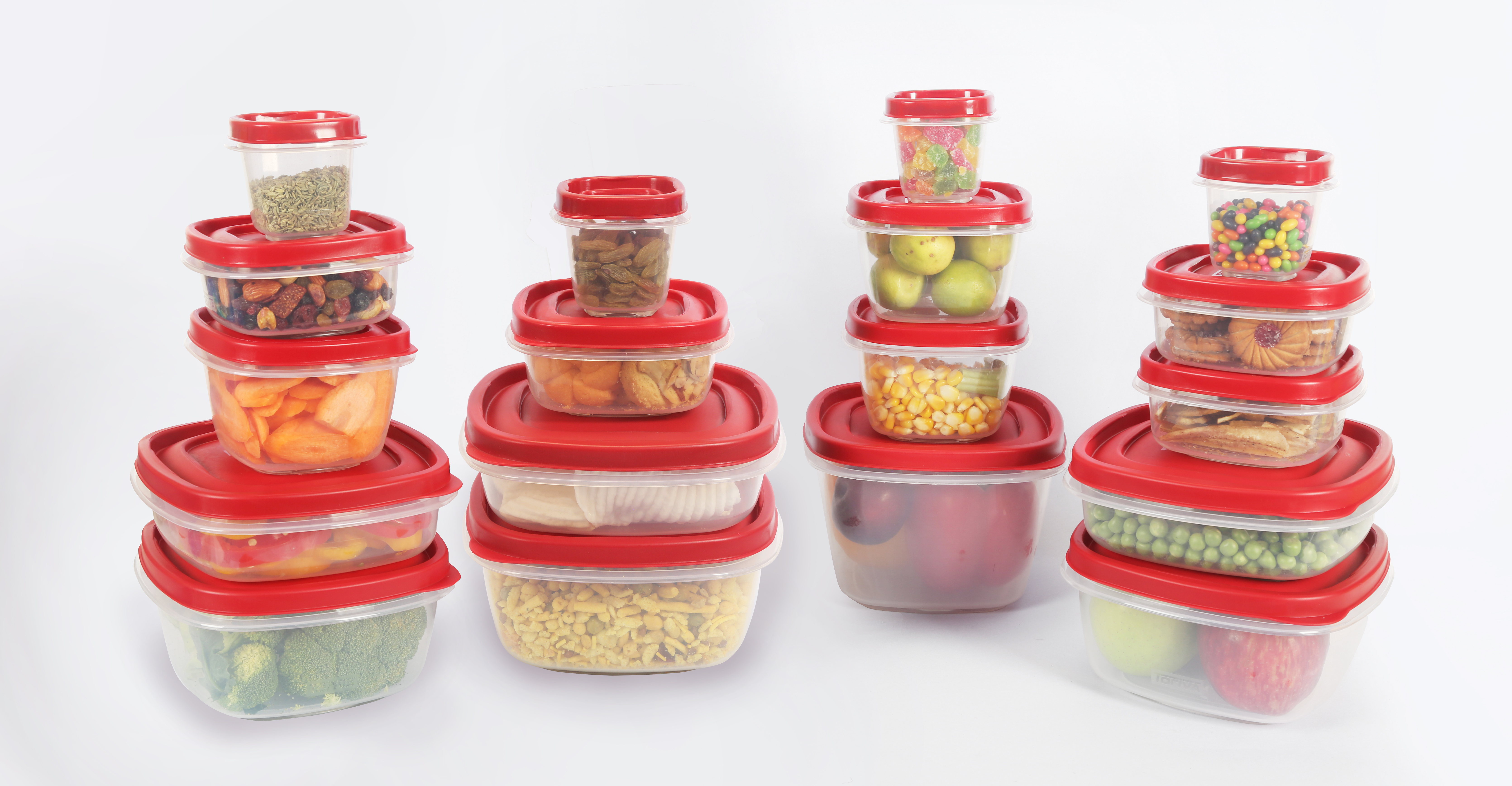 Plastic Containers Set of 18