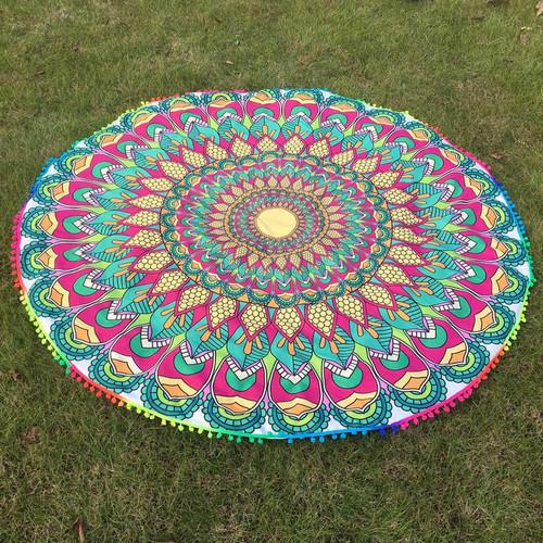 Round Beach Pareo Terry Towel Fabric