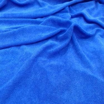 Blue Pareo Beach Terry Towel Fabric