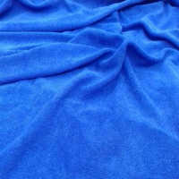 Blue Pareo Beach Terry Towel Fabric