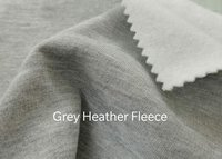 Grey Heather Fleece Fabric