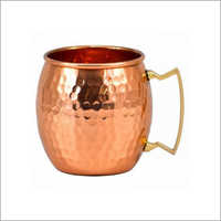 AHA 12177 Copper Mug With Brass Handle