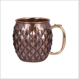 AHA 13452 Copper Mug With Brass Handle & Nickel Lined
