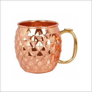 AHA 13453 Copper Mug With Brass Handle