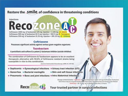 Ceftriaxone 500 mg & Tazobactam 62.5 mg