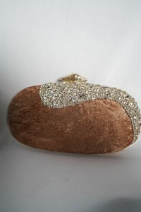 brown with colourful Embellishments bag