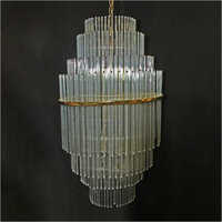 Hanging Glass Rod Chandelier