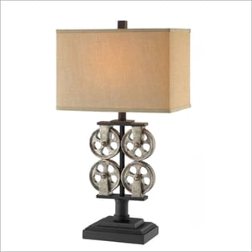 Metal Drum Shade Table Lamp