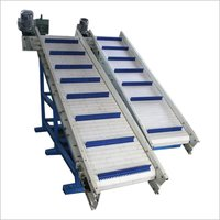 Inclined Cleated Food Grade Link Chain Conveyor