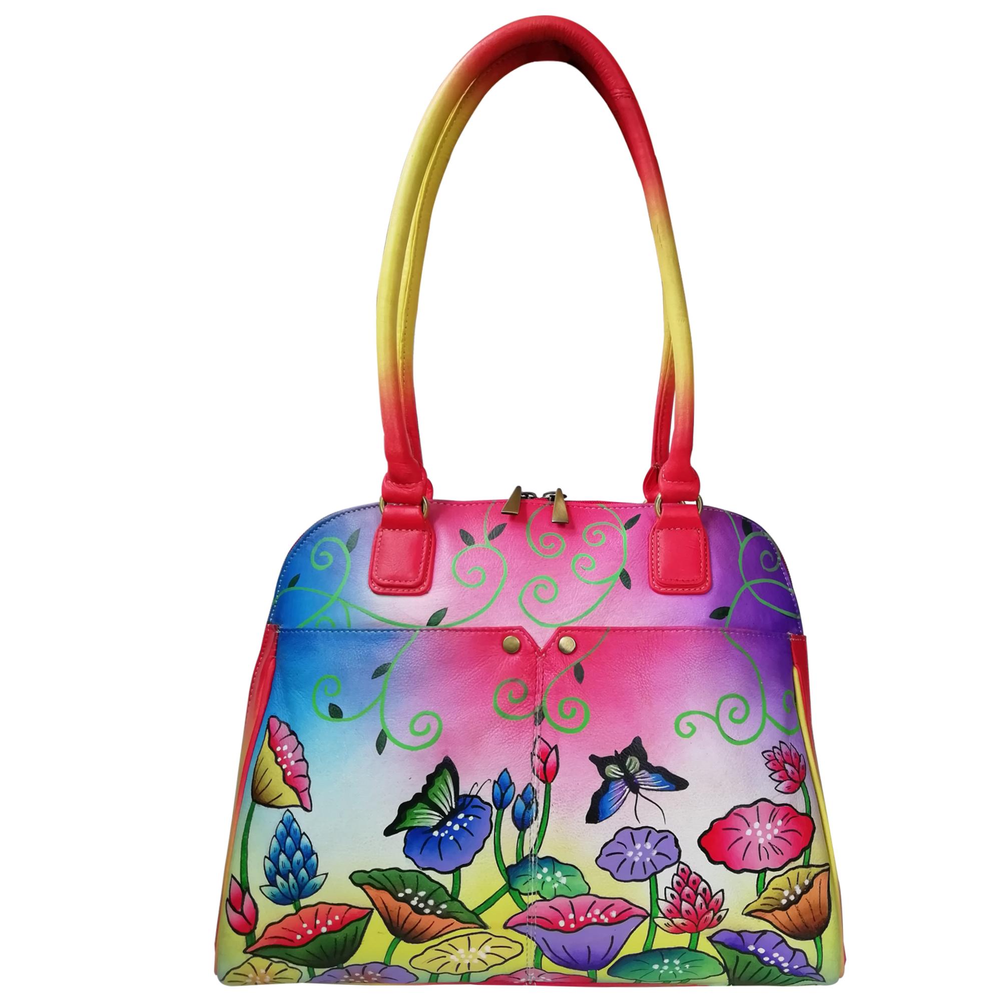 New Leather Hand Painted Shoulder Handbag