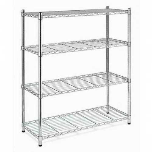 Adjustable wire mesh rack