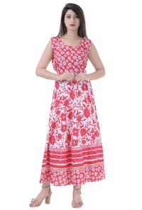 Jaipuri printed midi long dress