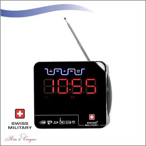 Swiss Military Multi-Purpose Bluetooth Speaker, Radio Cum Digital Clock With FM / Remote (BL10)