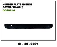 Number  Plate Licence Black