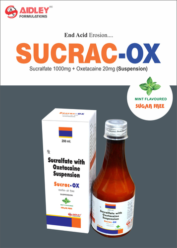 Anti Ulcerent- Sucralfate 1gm + Oxetacaine 20mg/10ml Suspension