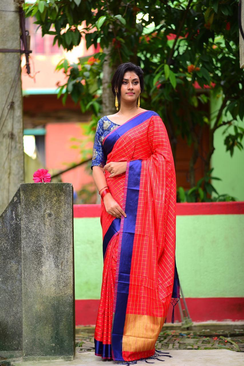New Pure Cotton Silk Saree