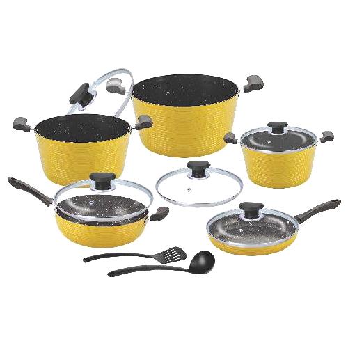 12 Pcs Dark Rock Cookware