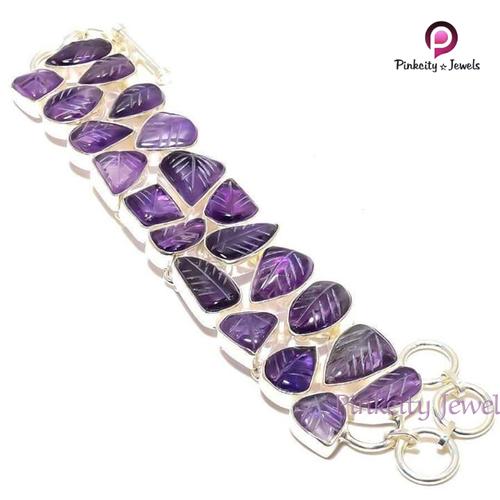 Natural Amethyst 925 Silver Bracelets