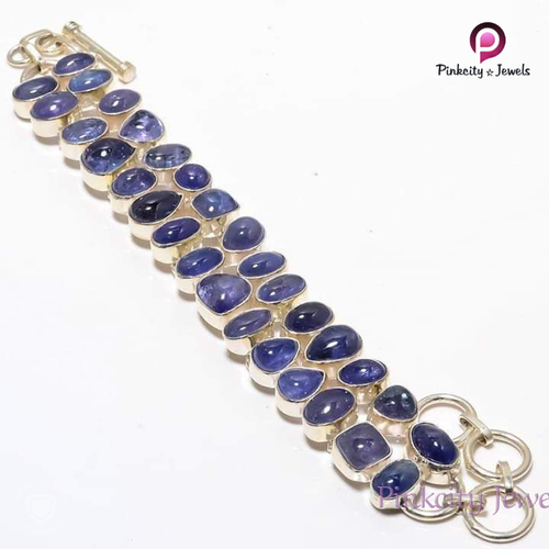 Natural Tanzanite 925 Silver Bracelets