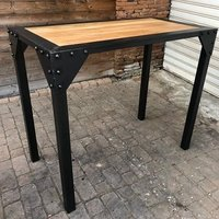 Modern iron frame  & wooden table