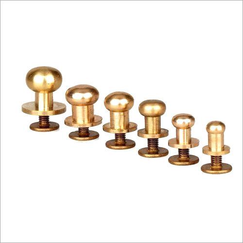 Brass Button Stud