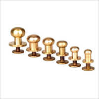 Brass Head Button Stud