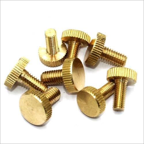 Brass Flat Knurled Head Screw