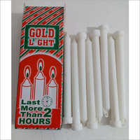 Gold Light Plain Wax Candles