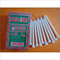 Gold Light Plain Wax White Candles