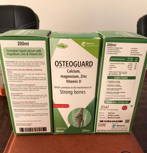 Osteoguard- Calcium,Magnesium,zinc,Vitamin D3 Syrup