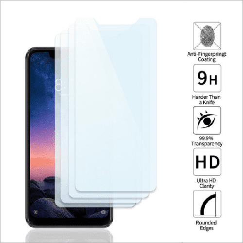 Adsun q-mob Tempered Glass Compatible with Mi Note 6 Pro (Pack of 4)