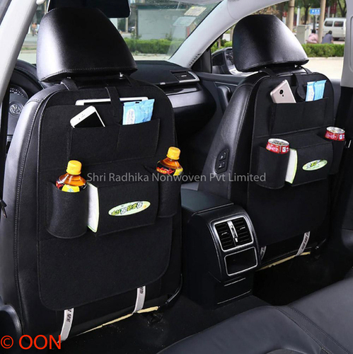 Black Felt Car Seat Organiser