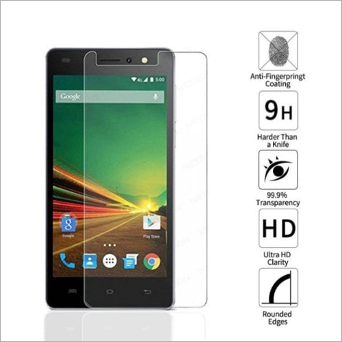 Adsun q-mob Tempered Glass Compatible with Lava Z90 (Pack of 1)