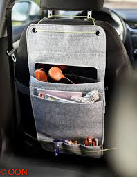Grey Felt Car Seat Organiser