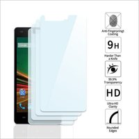 Adsun q-mob Tempered Glass Compatible with Lava Z90 (Pack of 4)
