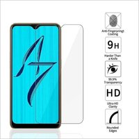 Adsun q-mob Tempered Glass Compatible with Oppo A7 (Pack of 1)