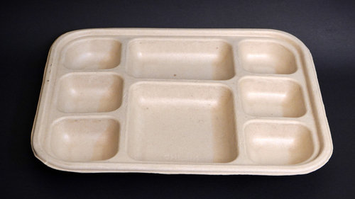 8CP Bagasse Meat Tray(Sealing Option Available)